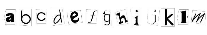 Kidnap Note Medium Font LOWERCASE