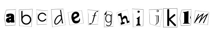 Kidnap Font LOWERCASE
