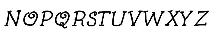 Kids Book Bold Italic Font UPPERCASE