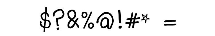 Kids Scrawl Font OTHER CHARS