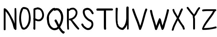 Kids Scrawl Font UPPERCASE