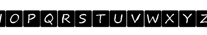 Kids board game Font UPPERCASE