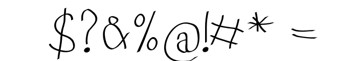 KidsFirstABC Font OTHER CHARS