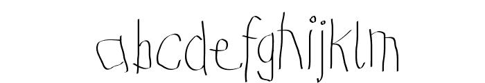 KidsFirstPrintFont Font LOWERCASE