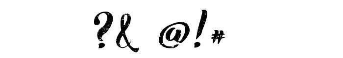 Kikelet Brush Font OTHER CHARS