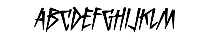 KillCrazy BB Italic Font LOWERCASE