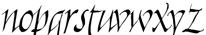 Killigraphy Font LOWERCASE