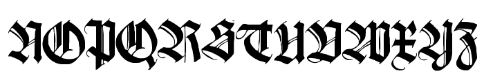 Killigrew Font UPPERCASE