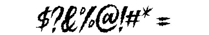 Killing Harmonic Font OTHER CHARS