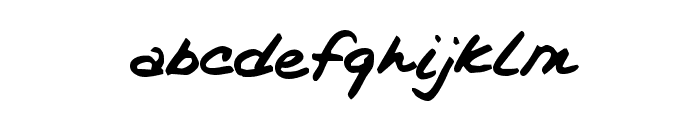 Kims Handwriting Font LOWERCASE