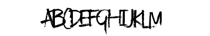 KindaMessy-Regular Font UPPERCASE
