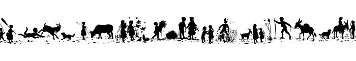 KinderUndAndereEngel Font UPPERCASE