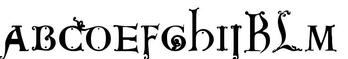 King Arthur Font LOWERCASE