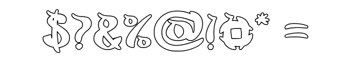 King Cobra-Hollow Font OTHER CHARS