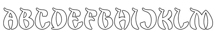 King Cobra-Hollow Font UPPERCASE