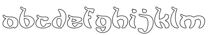 King Cobra-Hollow Font LOWERCASE