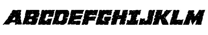 King Commando Expanded Italic Font UPPERCASE