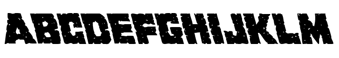 King Commando Leftalic Font LOWERCASE