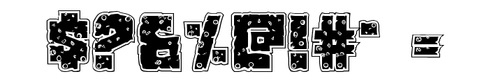 King Commando Riddled Regular Font OTHER CHARS