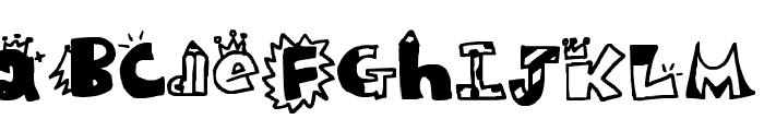 King Education Center Font UPPERCASE