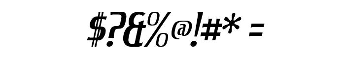 King Richard Italic Font OTHER CHARS