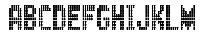 KingBus Font UPPERCASE