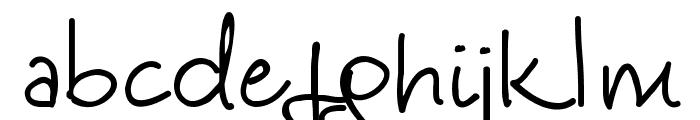 Kinga's Handwriting Font LOWERCASE
