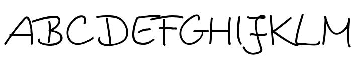 Kingashandwriting Font UPPERCASE