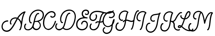 KingbirdsRegularDEMO Font UPPERCASE