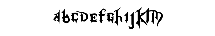 Kingdom Hearts Font LOWERCASE