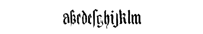 KingjolA Font LOWERCASE