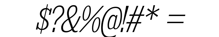KingsbridgeCdEl-Italic Font OTHER CHARS