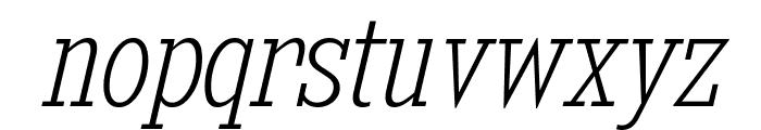 KingsbridgeCdEl-Italic Font LOWERCASE