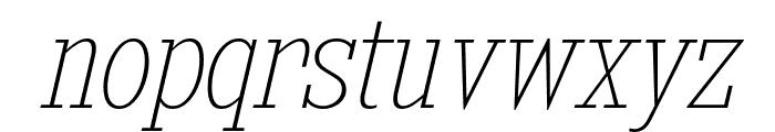 KingsbridgeCdUl-Italic Font LOWERCASE