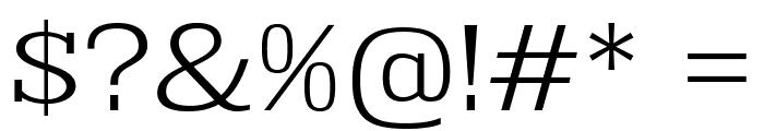 KingsbridgeExLt-Regular Font OTHER CHARS