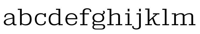 KingsbridgeExLt-Regular Font LOWERCASE
