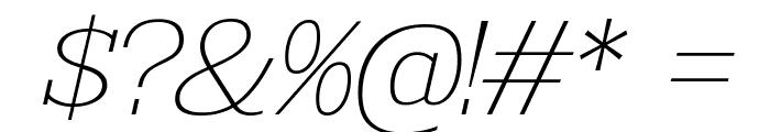 KingsbridgeExUl-Italic Font OTHER CHARS