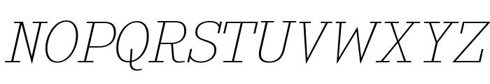 KingsbridgeExUl-Italic Font UPPERCASE