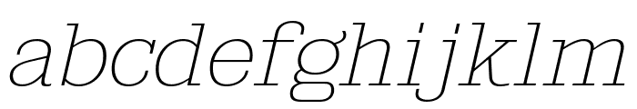 KingsbridgeExUl-Italic Font LOWERCASE