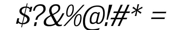 KingsbridgeLt-Italic Font OTHER CHARS