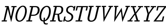 KingsbridgeLt-Italic Font UPPERCASE