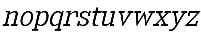 KingsbridgeLt-Italic Font LOWERCASE