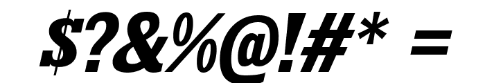 KingsbridgeRg-BoldItalic Font OTHER CHARS