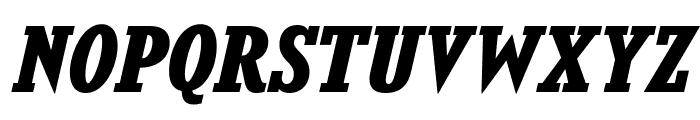 KingsbridgeRg-BoldItalic Font UPPERCASE