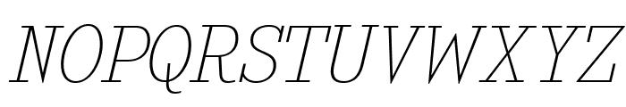 KingsbridgeUl-Italic Font UPPERCASE