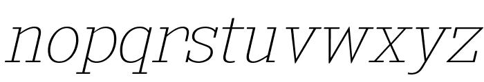 KingsbridgeUl-Italic Font LOWERCASE