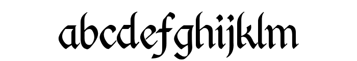 Kingthings Calligraphica Light Font LOWERCASE