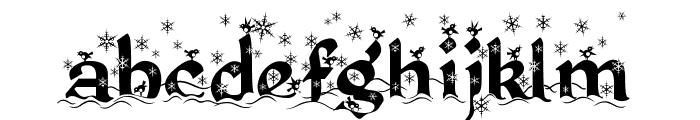 Kingthings Christmas 2 Font LOWERCASE