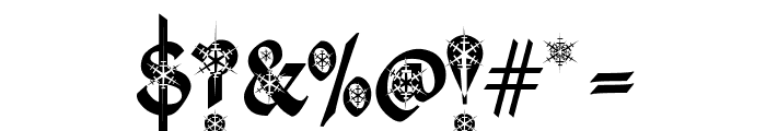 Kingthings Christmas Font OTHER CHARS