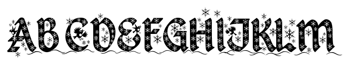 Kingthings Christmas Font UPPERCASE